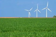 Três turbinas de vento Imagens de Stock