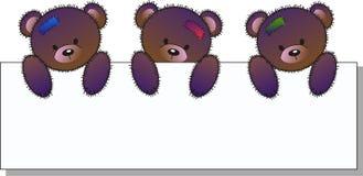 Três ursos bonitos ilustração stock