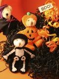 Três ursos de Halloween Fotografia de Stock Royalty Free