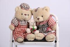 Três ursos de peluche Fotografia de Stock