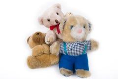 Três ursos de peluche Fotografia de Stock Royalty Free