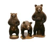Três ursos marrons fotografia de stock