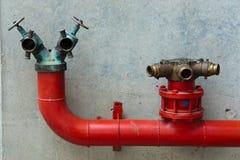 Três válvulas da água vermelha Fotos de Stock Royalty Free