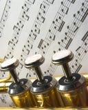 Três válvulas da trombeta Fotos de Stock