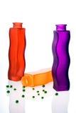 Três vasos de flor Fotos de Stock Royalty Free