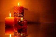Três velas Imagem de Stock