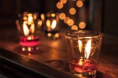 Três velas Fotos de Stock Royalty Free