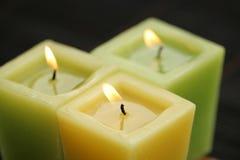 Três velas Foto de Stock Royalty Free
