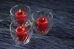 Três velas voltive Imagens de Stock Royalty Free