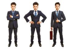 Três versões do homem de negócio completo do corpo Imagem de Stock Royalty Free