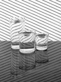 Três vidros da água no pano Ainda vida 1 Fotografia de Stock