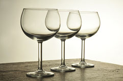 Três vidros de vinho Imagens de Stock Royalty Free