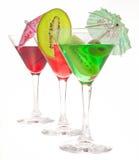 Três vidros dos cocktail Imagem de Stock