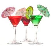 Três vidros dos cocktail Fotografia de Stock