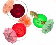 Três vidros dos cocktail Fotografia de Stock Royalty Free