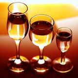 Três vidros simples Imagem de Stock Royalty Free