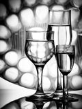 Três vidros simples Foto de Stock