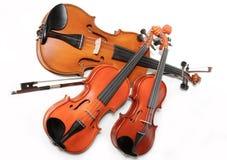 Três violinos Fotografia de Stock