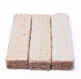Três waffles Imagem de Stock Royalty Free