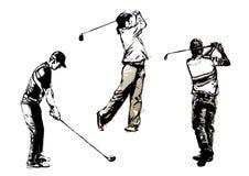 Trío 2 del golf Fotografía de archivo