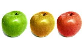 Trío de Apple Imágenes de archivo libres de regalías