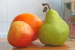 Trío de frutas Foto de archivo libre de regalías