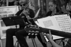 Trío de la guitarra Imagen de archivo libre de regalías