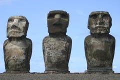 Trío de la isla de pascua Imagen de archivo libre de regalías