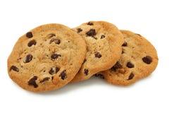 Trío de las galletas de viruta de chocolate Imagen de archivo libre de regalías