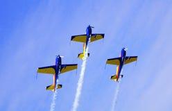 Trío de los aeroplanos Imágenes de archivo libres de regalías