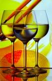 Trío de los vidrios de vino fotografía de archivo libre de regalías
