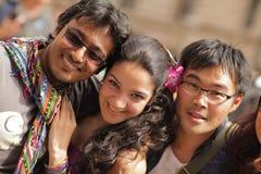 Trío en Londres Pride Parade 2013 Fotografía de archivo