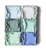Trío machacado maquillaje del polvo Fotos de archivo libres de regalías