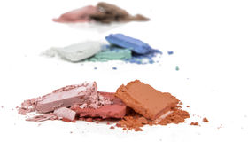 Trío machacado maquillaje del polvo imágenes de archivo libres de regalías