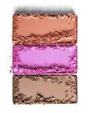 Tríos del maquillaje del polvo Imagenes de archivo