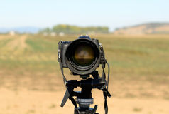 Trípode de cámara Fotografía de archivo libre de regalías