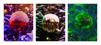 Tríptico - decoración de la Navidad Foto de archivo libre de regalías