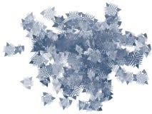 Trójboków confetti tło royalty ilustracja