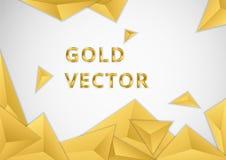 Trójboków elementów złocisty tło ilustracja wektor