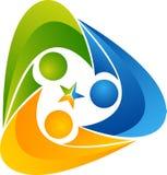Trójbok istoty ludzkiej logo royalty ilustracja