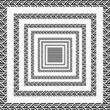 Trójbok linii kwadrata czarny i biały ruch royalty ilustracja