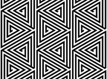 Trójbok siatki Abstrakcjonistyczny Bezszwowy Geometryczny wzór Zdjęcia Stock