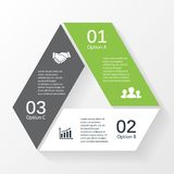 Trójbok strzała diagrama 3 infographic opcje ilustracji