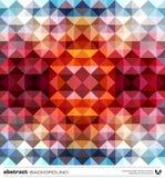 Trójboka abstrakcjonistyczny kolorowy tło. Wektor. Obrazy Stock