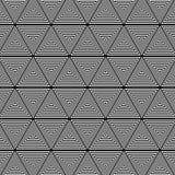 Trójboka czarny i biały deseniowy tło royalty ilustracja