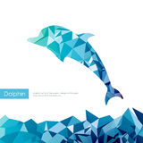 Trójboka delfin ilustracja wektor