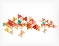 Trójboka deseniowy skład, abstrakcjonistyczny tło Obraz Stock