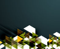 Trójboka deseniowy skład, abstrakcjonistyczny tło Zdjęcia Stock