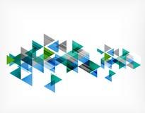 Trójboka deseniowy skład, abstrakcjonistyczny tło Zdjęcia Royalty Free