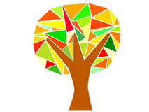 Trójboka drzewo Obraz Stock